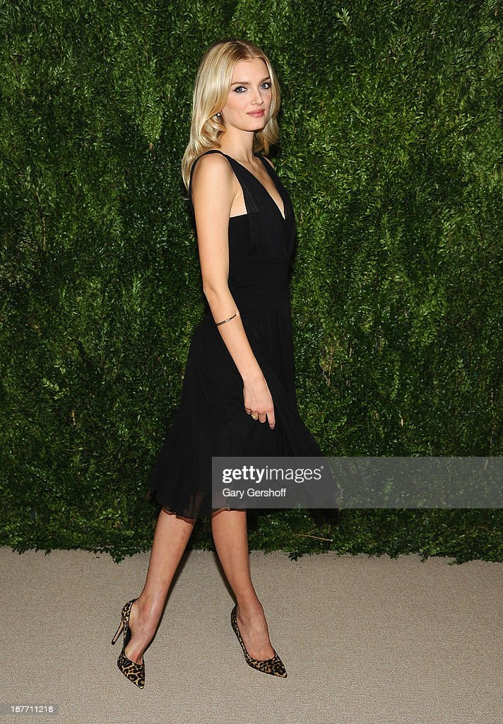 Model Lilly Donaldson attends The CFDA and Vogue 2013 Fashion Fund Finalists Celebration at Spring Studios on November 11, 2013 in New York City.