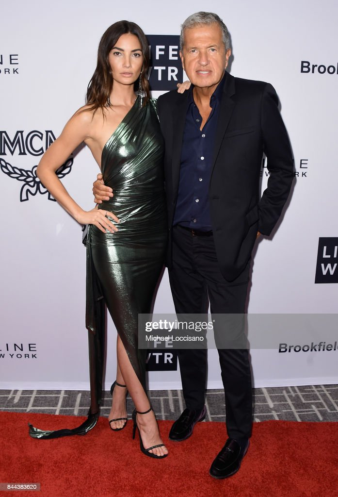 Model Lily Aldridge and photographer Mario Testino attend the Daily Front Row's Fashion Media Awards at Four Seasons Hotel New York Downtown on September 8, 2017 in New York City.