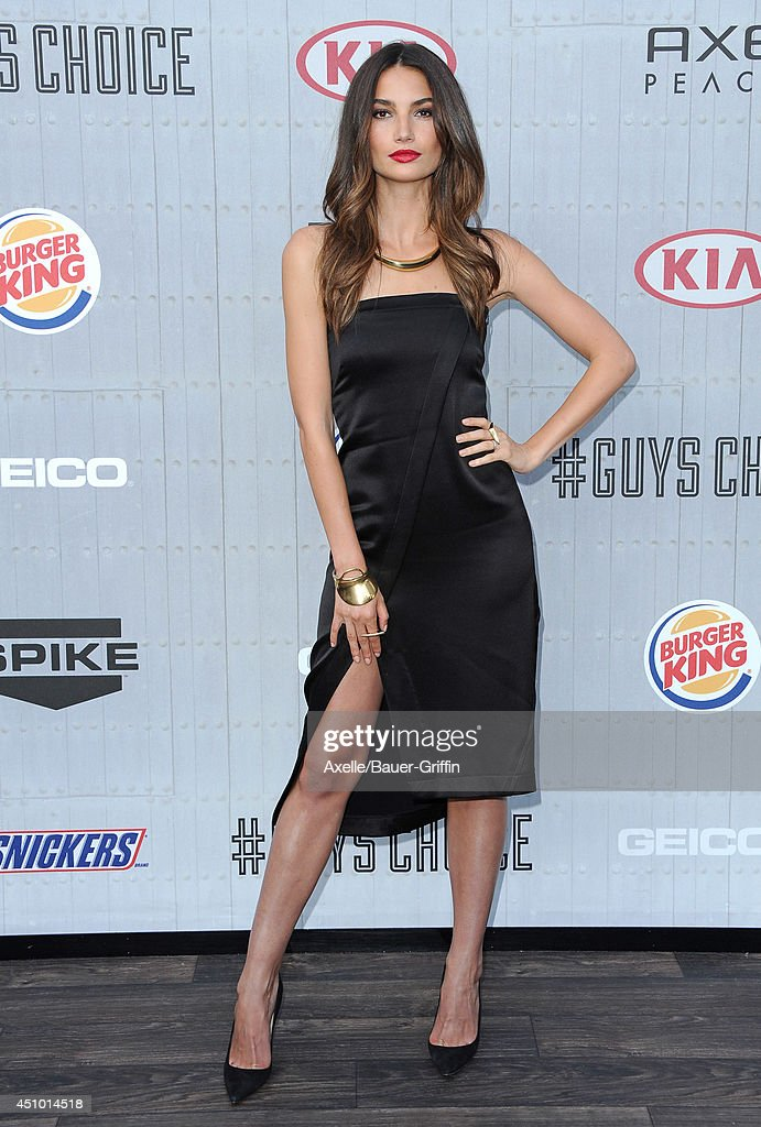 Model <a gi-track='captionPersonalityLinkClicked' href=/galleries/search?phrase=Lily+Aldridge&family=editorial&specificpeople=2110490 ng-click='$event.stopPropagation()'>Lily Aldridge</a> arrives at Spike TV's 'Guys Choice' Awards at Sony Studios on June 7, 2014 in Los Angeles, California.