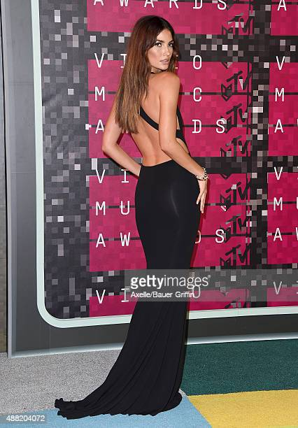 Model Lily Aldridge arrives at the 2015 MTV Video Music Awards at Microsoft Theater on August 30 2015 in Los Angeles California