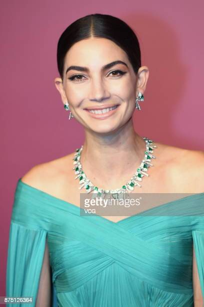 Model Lily Aldridge attends Bvlgari Festa high jewelry event at Bvlgari hotel on November 16 2017 in Beijing China