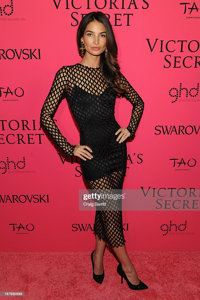 Model Lily Aldridge attends the 2013 Victoria's Secret Fashion after party at TAO Downtown on November 13, 2013 in New York City.