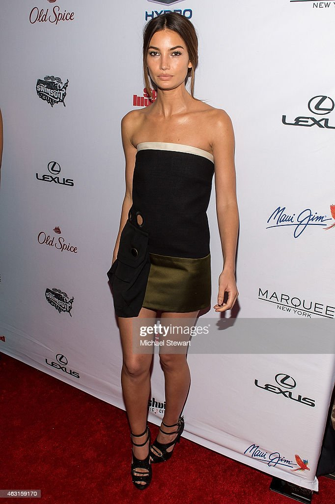 Model Lily Aldridge attends the 2015 Sports Illustrated Swimsuit Issue celebration at Marquee on February 10 2015 in New York City