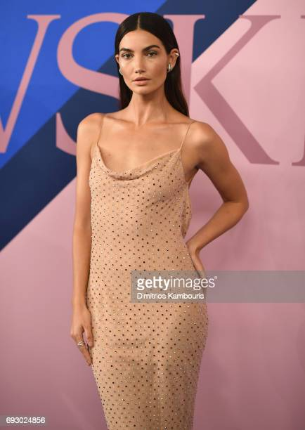 Model Lily Aldridge attends the 2017 CFDA Fashion Awards at Hammerstein Ballroom on June 5 2017 in New York City