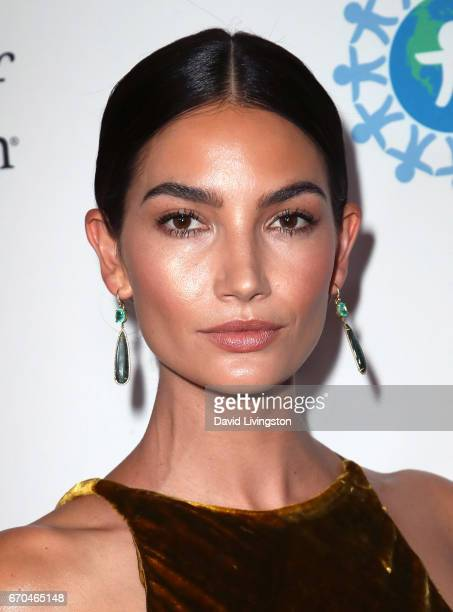 Model Lily Aldridge attends the 2017 World of Children Hero Awards at Montage Beverly Hills on April 19 2017 in Beverly Hills California