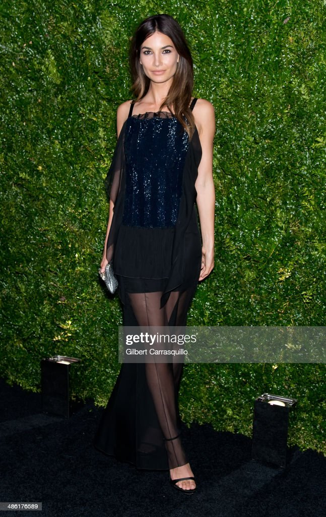 Model Lily Aldridge attends the 9th annual Chanel Artists Dinner during the 2014 Tribeca Film Festival at Balthazar on April 22, 2014 in New York, New York.