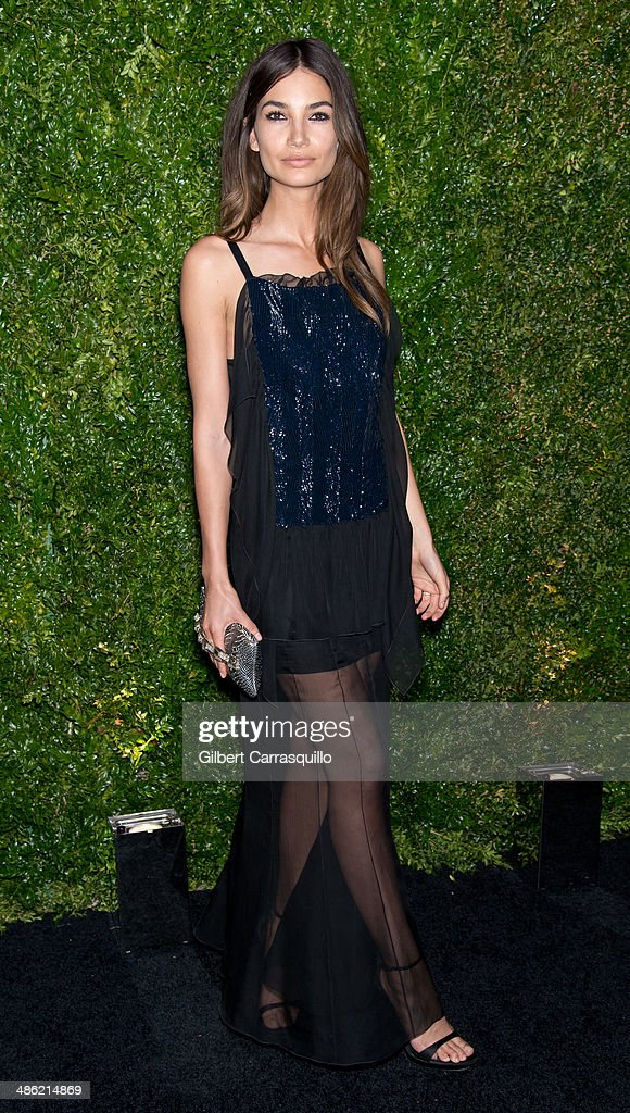 Model <a gi-track='captionPersonalityLinkClicked' href=/galleries/search?phrase=Lily+Aldridge&family=editorial&specificpeople=2110490 ng-click='$event.stopPropagation()'>Lily Aldridge</a> attends the 9th annual Chanel Artists Dinner during the 2014 Tribeca Film Festival at Balthazar on April 22, 2014 in New York, New York.