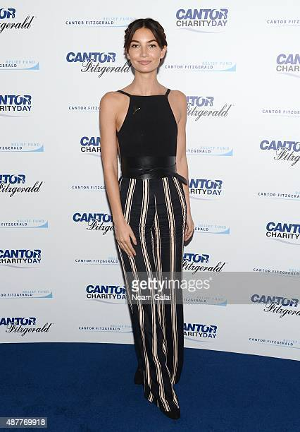 Model Lily Aldridge attends the annual Charity Day hosted by Cantor Fitzgerald and BGC at Cantor Fitzgerald on September 11 2015 in New York City