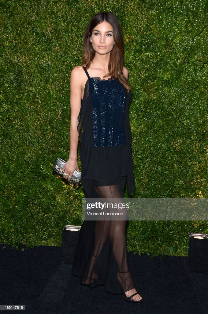 Model <a gi-track='captionPersonalityLinkClicked' href=/galleries/search?phrase=Lily+Aldridge&family=editorial&specificpeople=2110490 ng-click='$event.stopPropagation()'>Lily Aldridge</a> attends the CHANEL Tribeca Film Festival Artists Dinner at Balthazar on April 22, 2014 in New York City.
