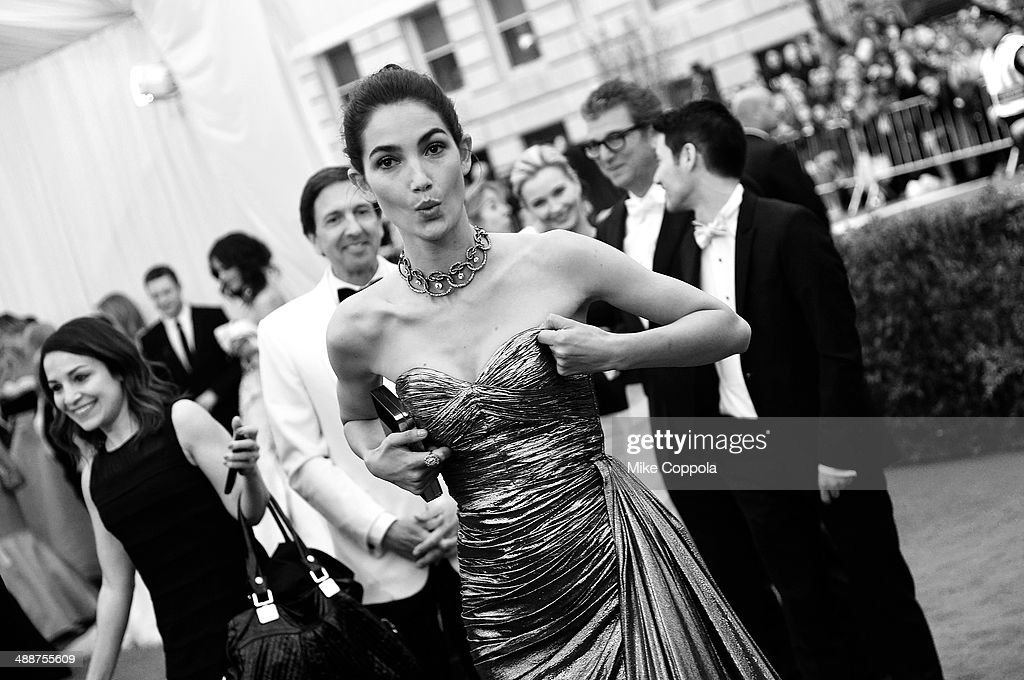 Model Lily Aldridge attends the 'Charles James Beyond Fashion' Costume Institute Gala at the Metropolitan Museum of Art on May 5 2014 in New York City