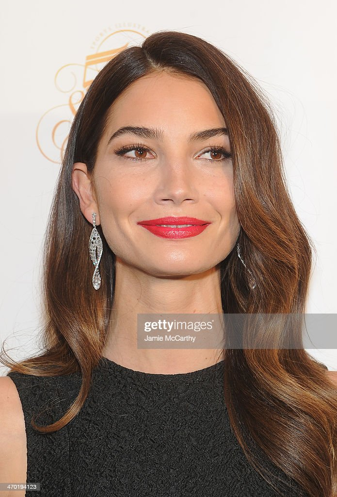 Model Lily Aldridge attends the Sports Illustrated Swimsuit 50 Years of Swim in NYC Celebration at the Sports Illustrated Swimsuit Beach House on February 18, 2014 in New York City.