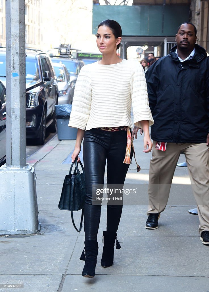 Model Lily Aldridge is seen outside wendy williams Show on March 9 2016 in New York City