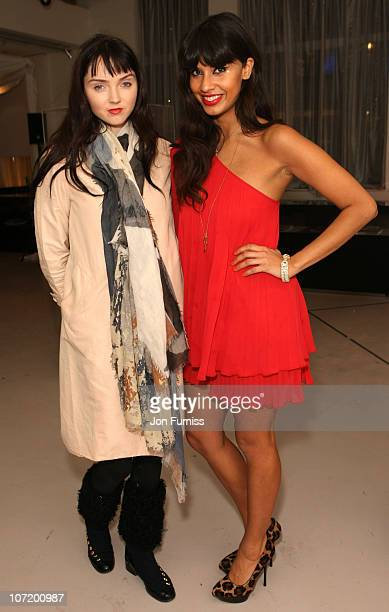 Model Lily Cole and DJ Jameela Jamil attend the 'Sex And The City 2' DVD Launch Party at the Swarovski Crystallized Lounge on November 29 2010 in...