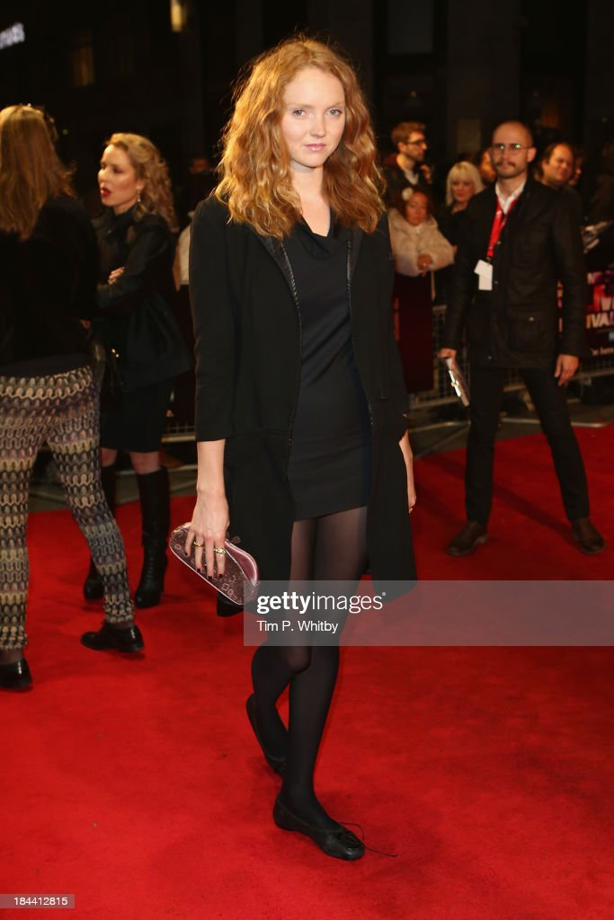 Model <a gi-track='captionPersonalityLinkClicked' href=/galleries/search?phrase=Lily+Cole&family=editorial&specificpeople=206320 ng-click='$event.stopPropagation()'>Lily Cole</a> attends a screening of 'Zero Theorem' during the 57th BFI London Film Festival at Odeon West End on October 13, 2013 in London, England.