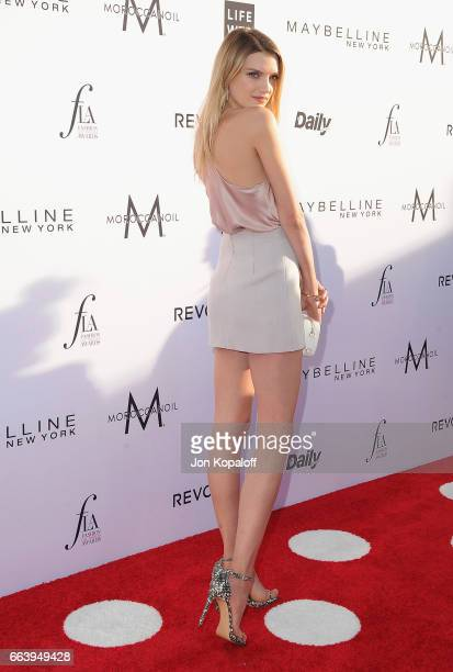 Model Lily Donaldson arrives at the Daily Front Row's 3rd Annual Fashion Los Angeles Awards at the Sunset Tower Hotel on April 2 2017 in West...