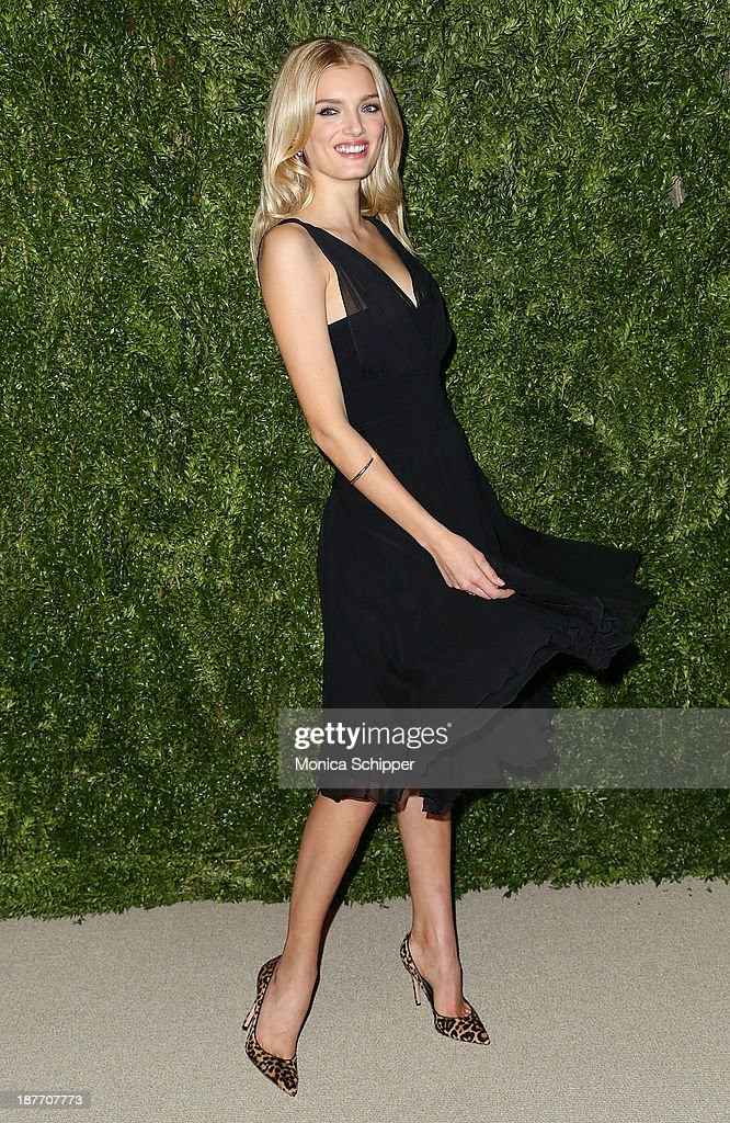 Model <a gi-track='captionPersonalityLinkClicked' href=/galleries/search?phrase=Lily+Donaldson&family=editorial&specificpeople=469694 ng-click='$event.stopPropagation()'>Lily Donaldson</a> attends CFDA and Vogue 2013 Fashion Fund Finalists Celebration at Spring Studios on November 11, 2013 in New York City.Ê