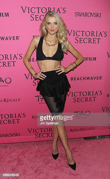 Model Lily Donaldson attends the 2015 Victoria's Secret Fashion Show after party at TAO Downtown on November 10 2015 in New York City