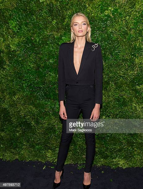 Model Lily Donaldson attends the 8th Annual Museum Of Modern Art Film Benefit Honoring Cate Blanchett on November 17 2015 in New York City