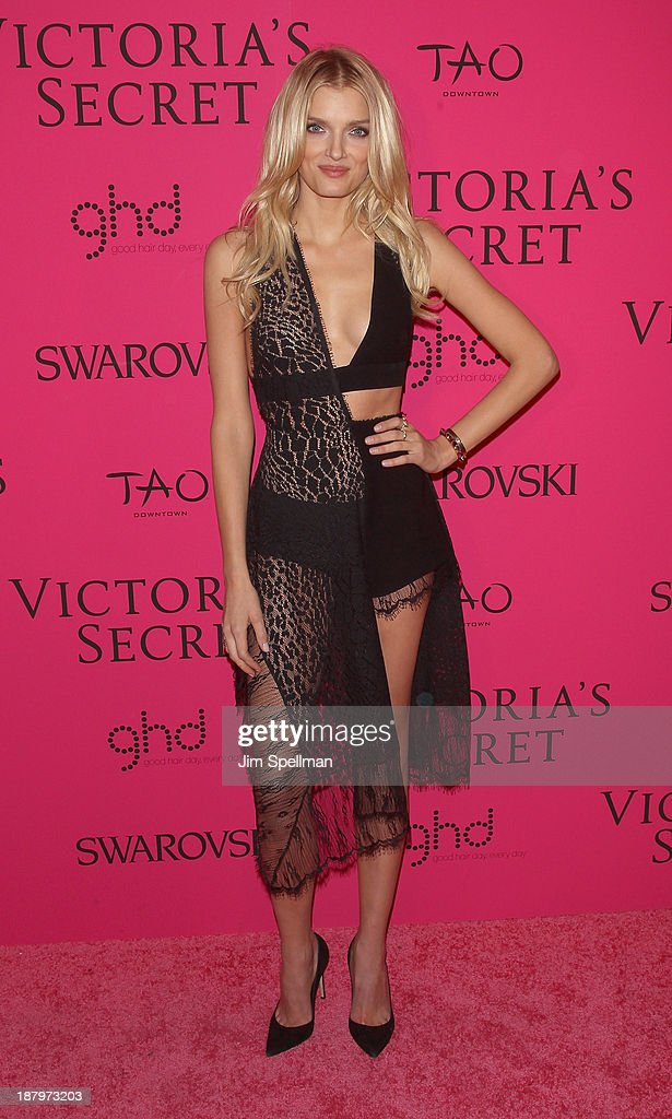 Model Lily Donaldson attends the after party for the 2013 Victoria's Secret Fashion Show at TAO Downtown on November 13, 2013 in New York City.