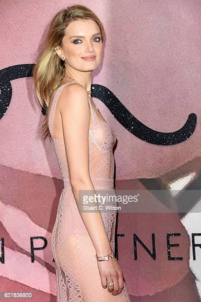 Model Lily Donaldson attends The Fashion Awards 2016 on December 5 2016 in London United Kingdom