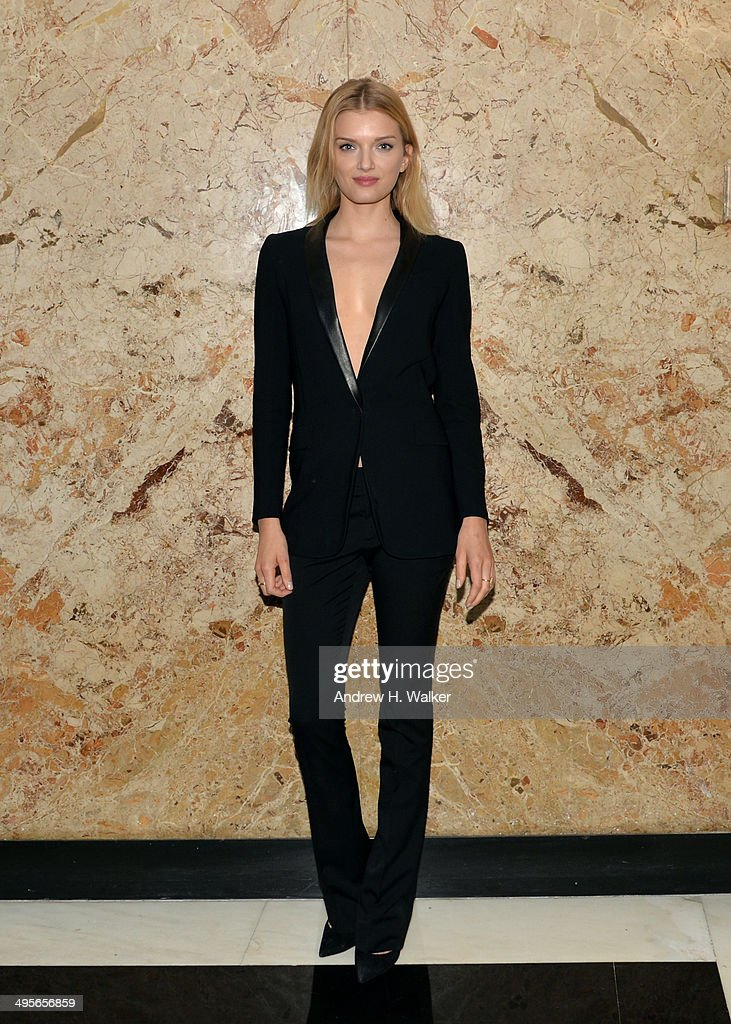 Model Lily Donaldson attends the Gucci beauty launch event hosted by Frida Giannini on June 4, 2014 in New York City.