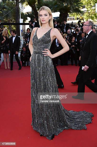 Model Lily Donaldson attends the 'Inside Out' Premiere during the 68th annual Cannes Film Festival on May 18 2015 in Cannes France