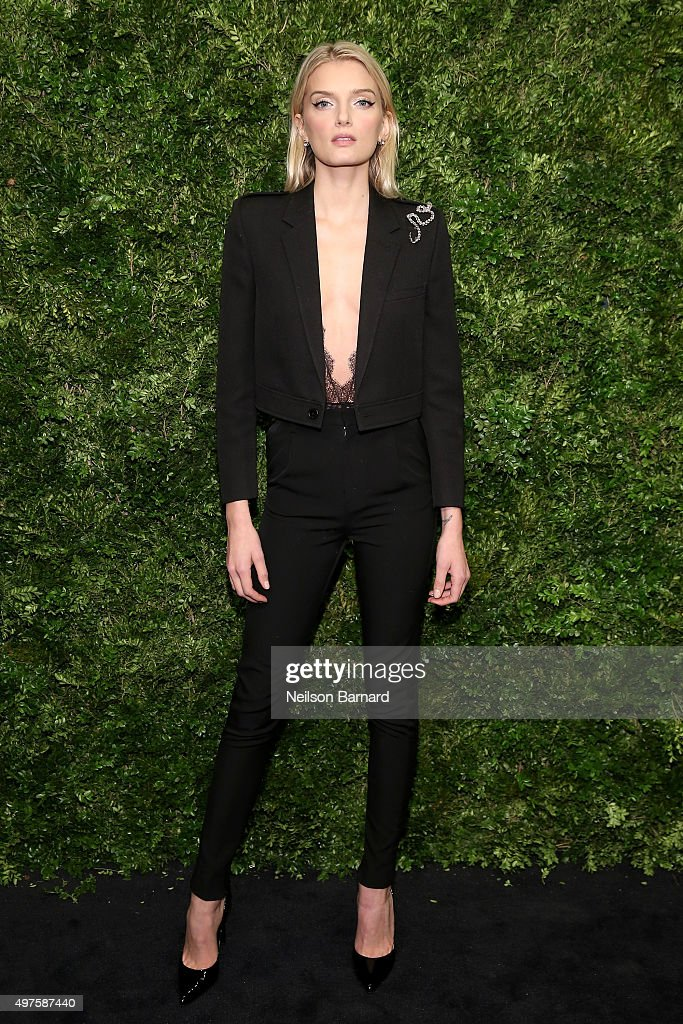 Model Lily Donaldson attends the Museum of Modern Art's 8th Annual Film Benefit Honoring Cate Blanchett at the Museum of Modern Art on November 17...