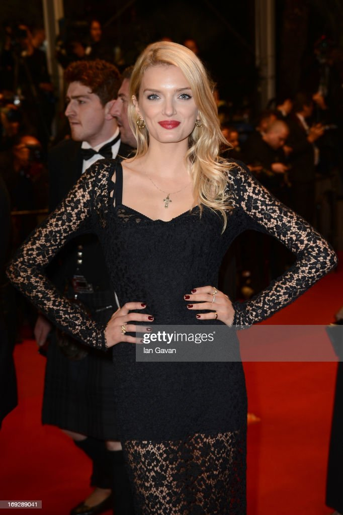 Model Lily Donaldson attends the 'Only God Forgives' Premiere during the 66th Annual Cannes Film Festival at Palais des Festivals on May 22 2013 in...