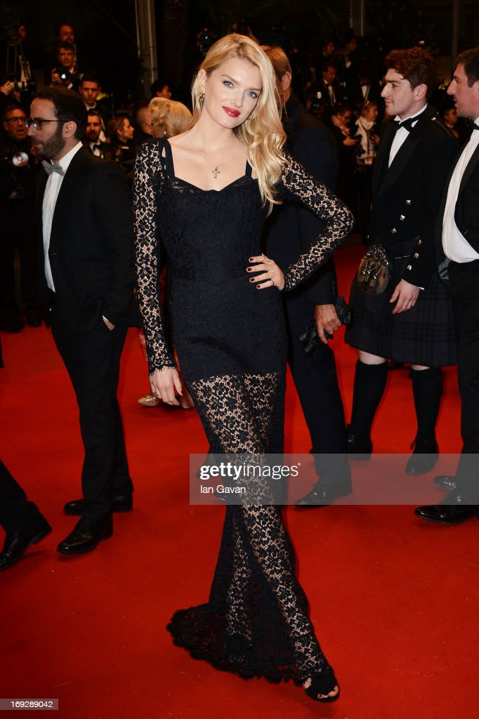 Model Lily Donaldson attends the 'Only God Forgives' Premiere during the 66th Annual Cannes Film Festival at Palais des Festivals on May 22, 2013 in Cannes, France.