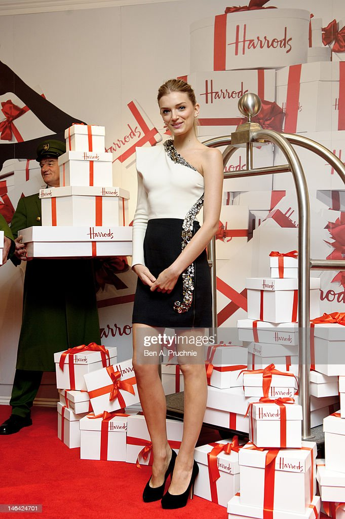 Model Lily Donaldson launches the Harrods Summer Sale at Harrods on June 16, 2012 in London, England.