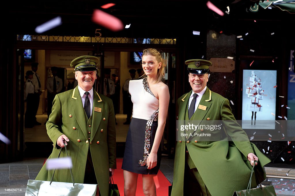 Model <a gi-track='captionPersonalityLinkClicked' href=/galleries/search?phrase=Lily+Donaldson&family=editorial&specificpeople=469694 ng-click='$event.stopPropagation()'>Lily Donaldson</a> launches the Harrods Summer Sale at Harrods on June 16, 2012 in London, England.