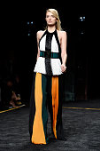 Model Lily Donaldson walks the runway during the Balmain show as part of the Paris Fashion Week Womenswear Fall/Winter 2015/2016 on March 5 2015 in...