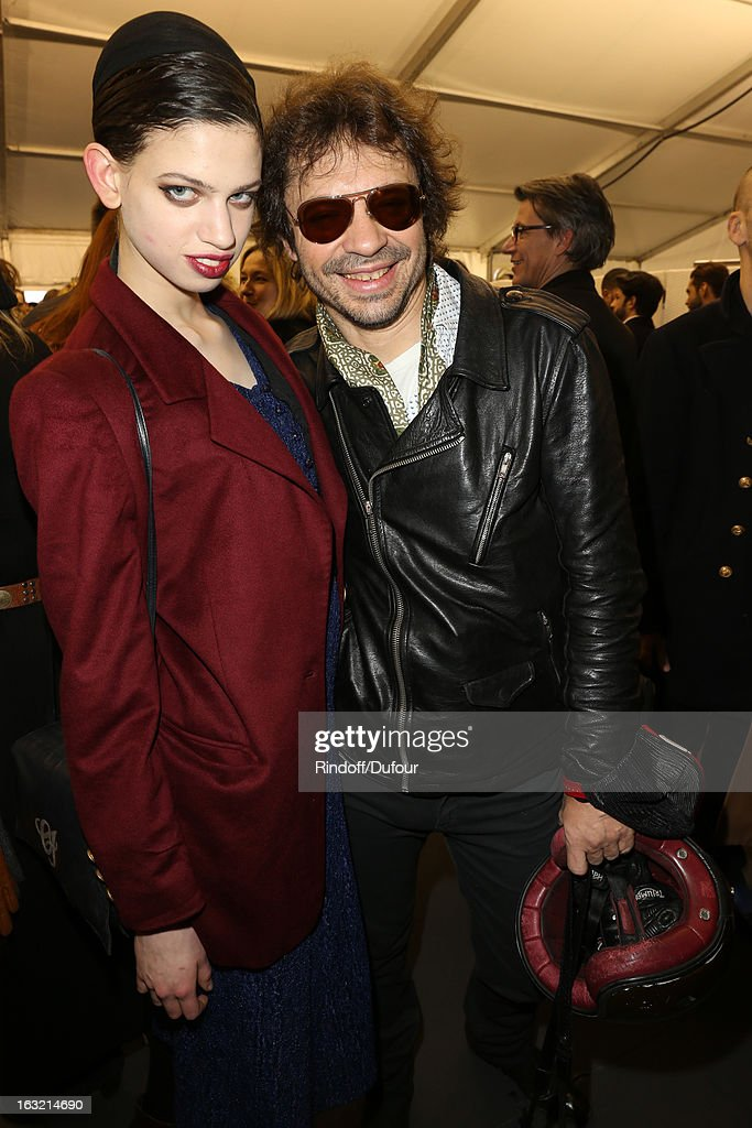 Model Lily McMenamy and Olivier Zham attend the Louis Vuitton Fall/Winter 2013 Ready-to-Wear show as part of Paris Fashion Week on March 6, 2013 in Paris, France.