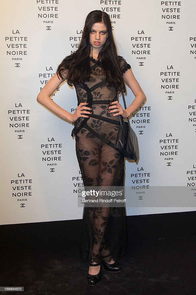 Model Lily McMenamy, Kristen McMenamy's daughter, attends 'La Petite Veste Noire' Book Launch Hosted By Karl Lagerfeld & Carine Roitfeld at Grand Palais on November 8, 2012 in Paris, France.