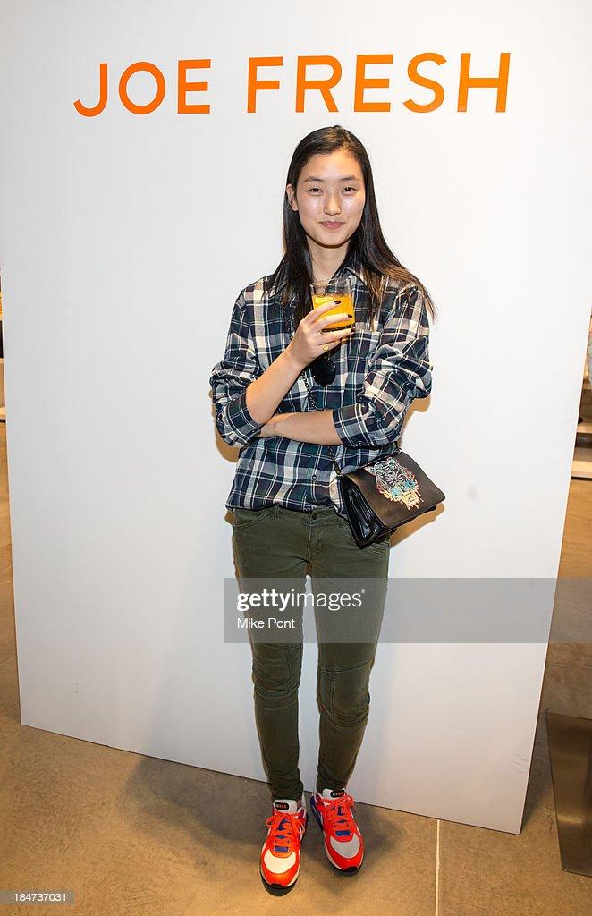 Model Lina Zhang attends the Joe Fresh Soho opening party at Joe Fresh Soho on October 15 2013 in New York City