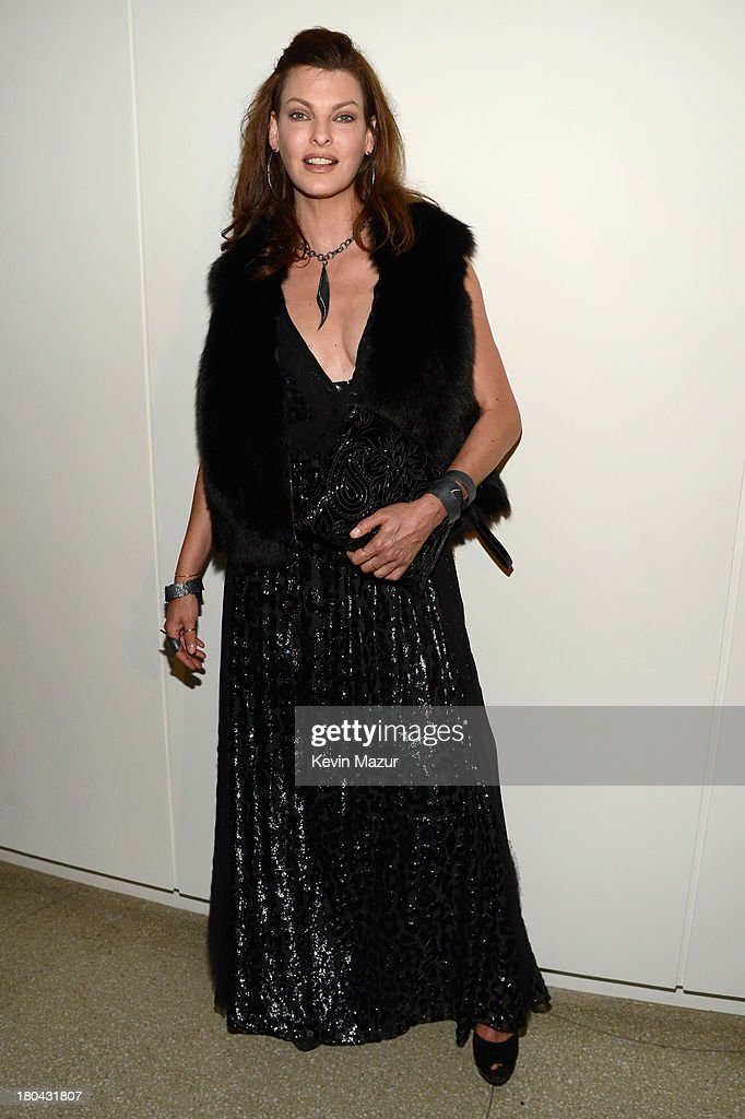 Model <a gi-track='captionPersonalityLinkClicked' href=/galleries/search?phrase=Linda+Evangelista&family=editorial&specificpeople=203121 ng-click='$event.stopPropagation()'>Linda Evangelista</a> attends the Estee Lauder 'Modern Muse' Fragrance Launch Party at the Guggenheim Museum on September 12, 2013 in New York City.