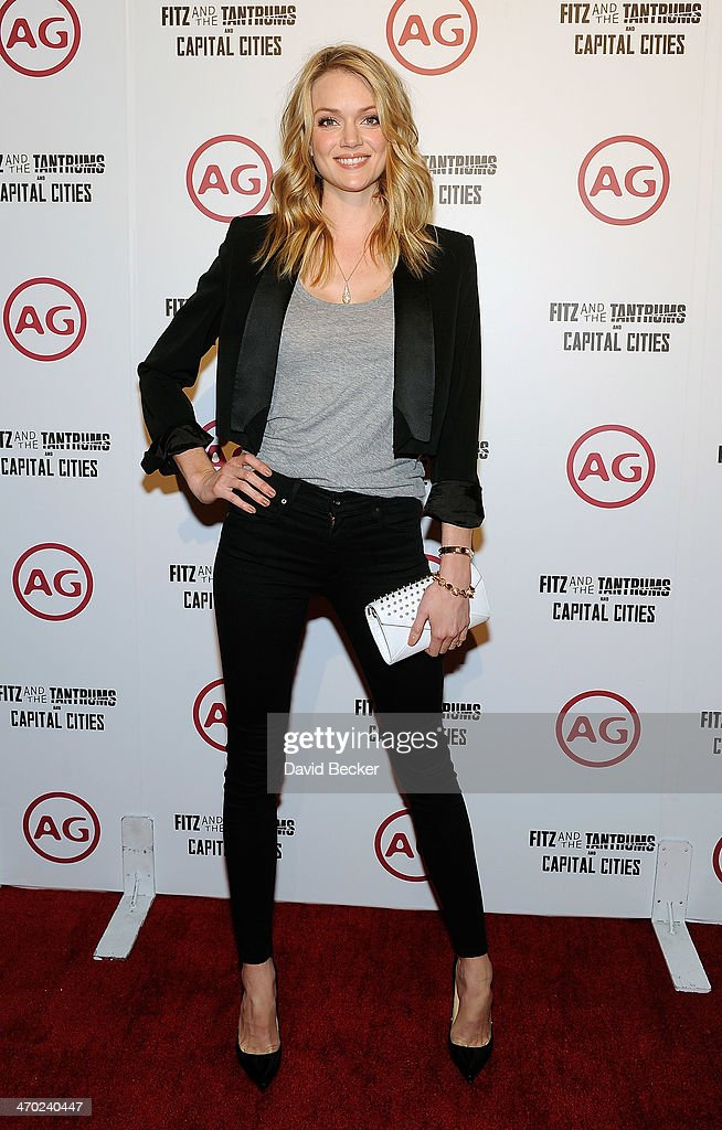 Model Lindsay Ellingson arrives at the Fitz and the Tantrum and Capital Cities concert presented by AG at The Chelsea at The Cosmopolitan of Las Vegas on February 18, 2014 in Las Vegas, Nevada.