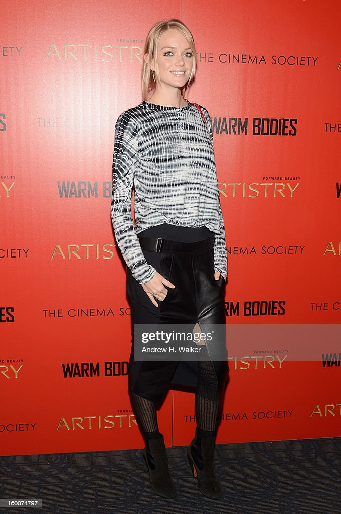 Model Lindsay Ellingson attends a screening of 'Warm Bodies' hosted by The Cinema Society at Landmark's Sunshine Cinema on January 25, 2013 in New York City.