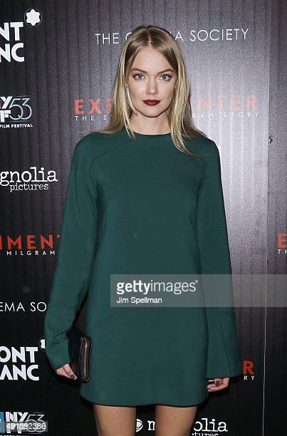 Model Lindsay Ellingson attends Montblanc The Cinema Society host a party for The New York Film Festival premiere of Magnolia Pictures'...