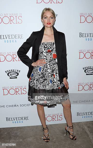 Model Lindsay Ellingson attends Roadside Attractions with The Cinema Society Belvedere Vodka host The New York premiere of 'Hello My Name is Doris'...