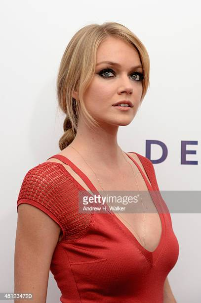 Model Lindsay Ellingson attends the 'Begin Again' premiere at SVA Theater on June 25 2014 in New York City