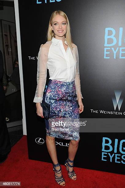 Model Lindsay Ellingson attends the 'Big Eyes' New York Premiere at Museum of Modern Art on December 15 2014 in New York City