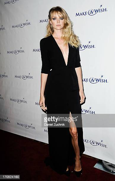 Model Lindsay Ellingson attends the MakeAWish Metro New York 30th Anniversary Gala at Cipriani Wall Street on June 13 2013 in New York City