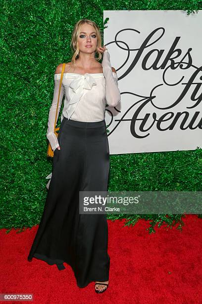 Model Lindsay Ellingson attends the Saks Downtown x Vogue event held at Saks Downtown on September 8 2016 in New York City
