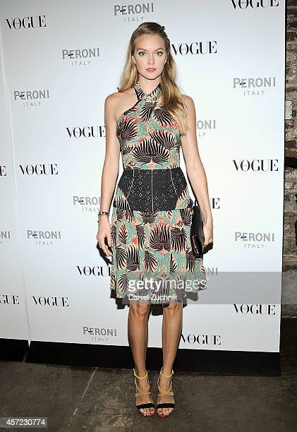 Model Lindsay Ellingson attends The Visionary World of Vogue Italia Exhibition Opening Night presented by Peroni Nastro Azzurro at Industria Studios...