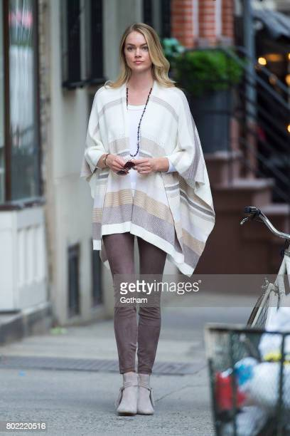 Model Lindsay Ellingson is seen in the West Village on June 27 2017 in New York City