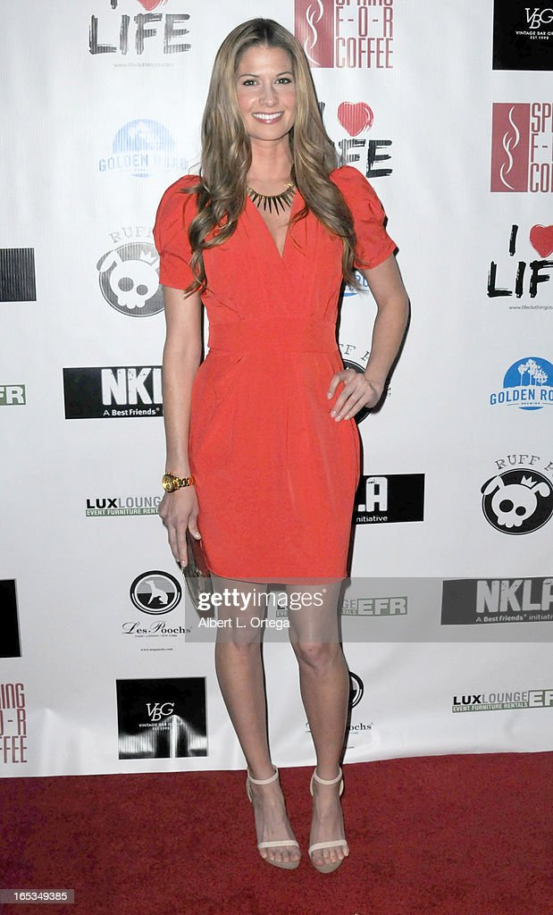 Model Lindsey Lockwood arrives for the No Kill LA Charity Event held at Fred Segal on April 2, 2013 in West Hollywood, California.