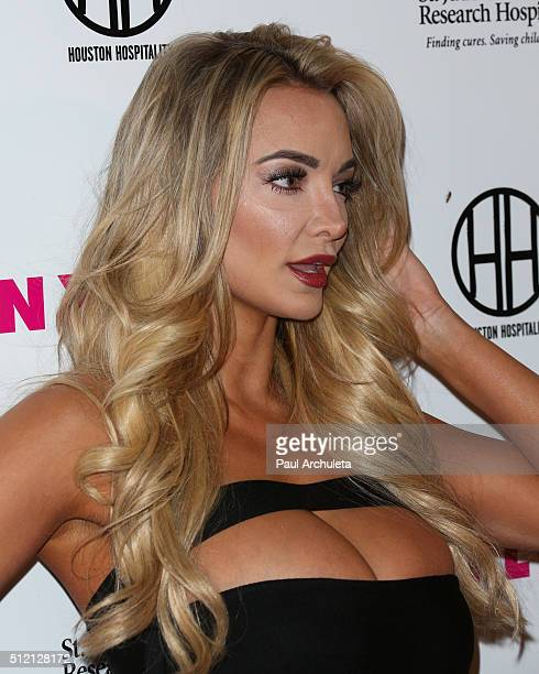 Model Lindsey Pelas attends NYLON Magazine's Muses And Music Party at No Vacancy on February 9 2016 in Los Angeles California