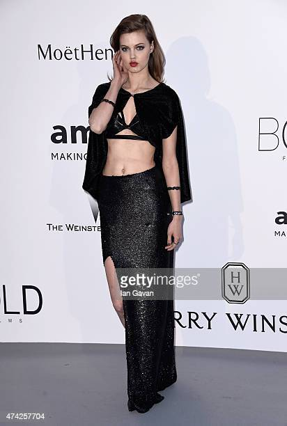 Model Lindsey Wixson attends amfAR's 22nd Cinema Against AIDS Gala Presented By Bold Films And Harry Winston at Hotel du CapEdenRoc on May 21 2015 in...