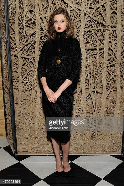 Model Lindsey Wixson attends Liu Wen Wendi Murdoch Laurent Claquin x Qeelin Host A Private Cocktail Party To Celebrate The Met Gala Exhibition on May...
